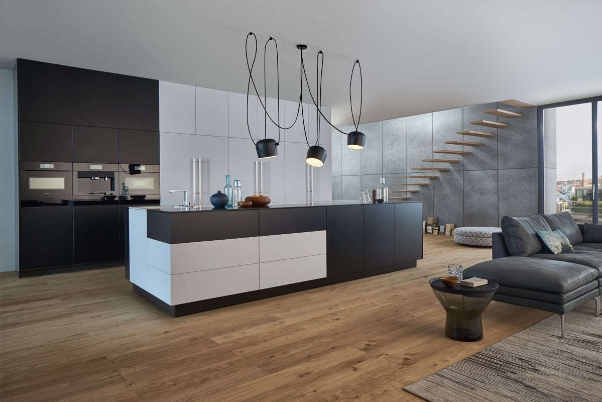 Stijlvolle zwart-wit design keuken