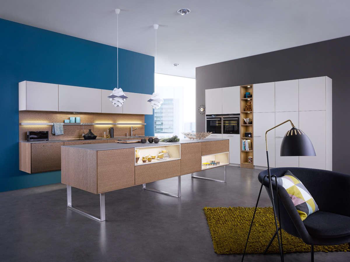 Moderne, zwevende design keuken