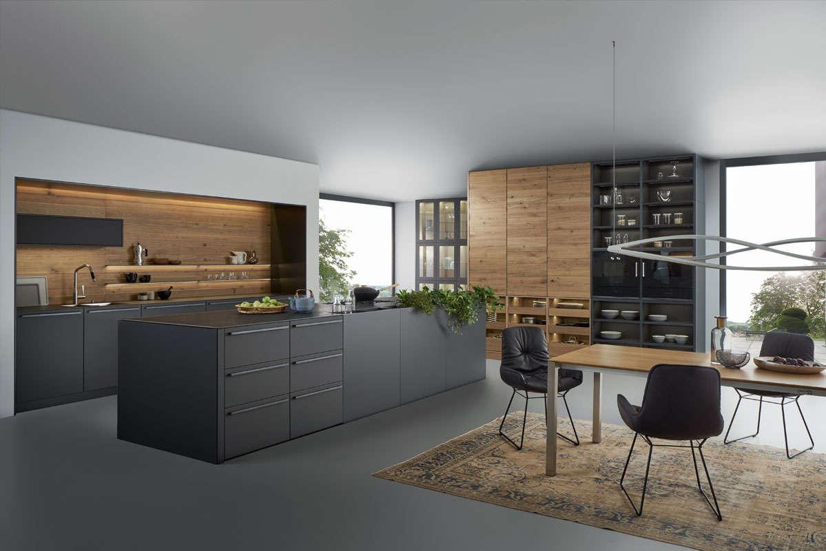 Een design keuken die rust uitstraalt