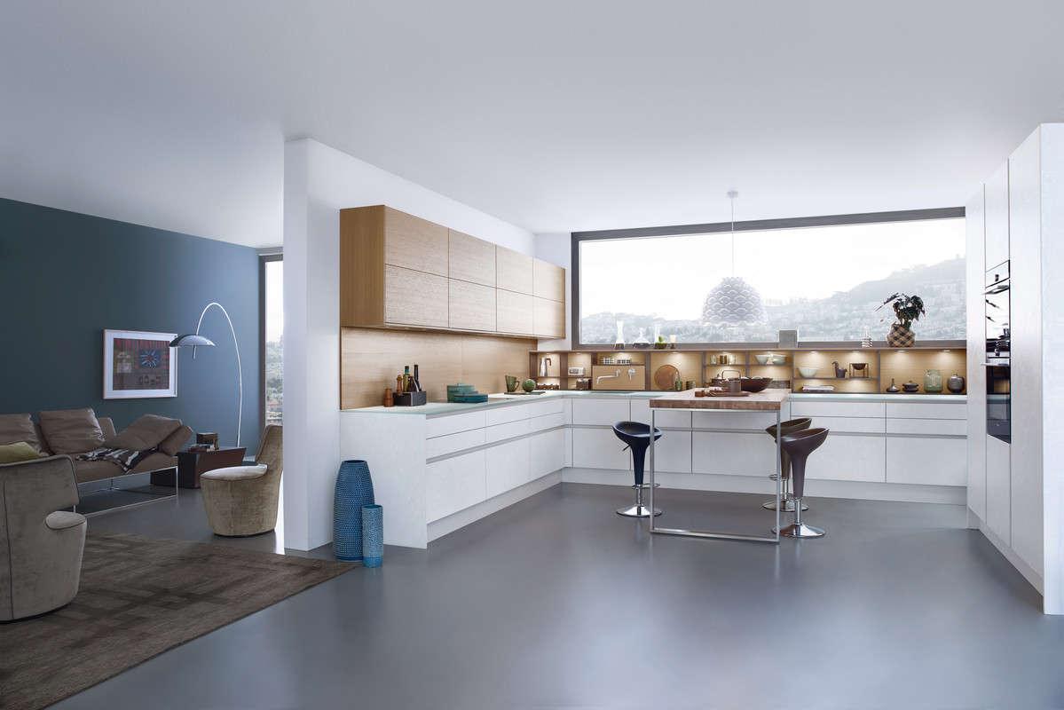 Wit betonnen design keuken