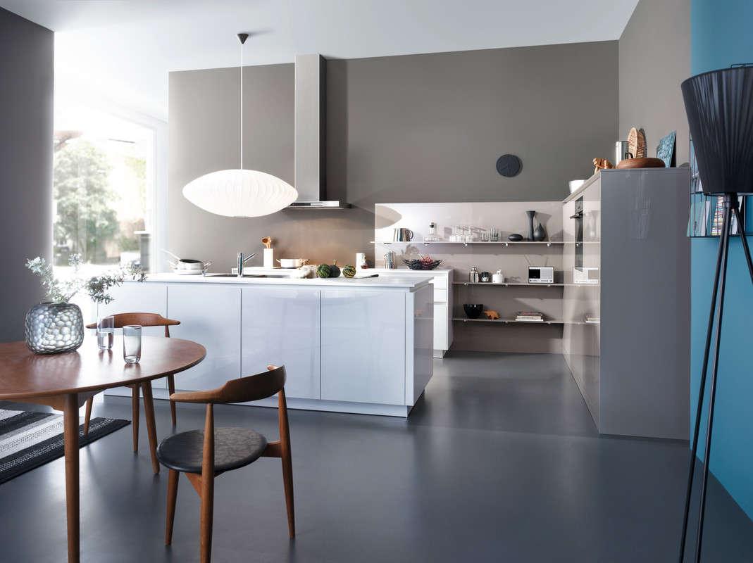 Open, lichte design keuken