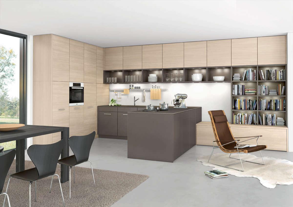 Design keuken met een duidelijk vormelement