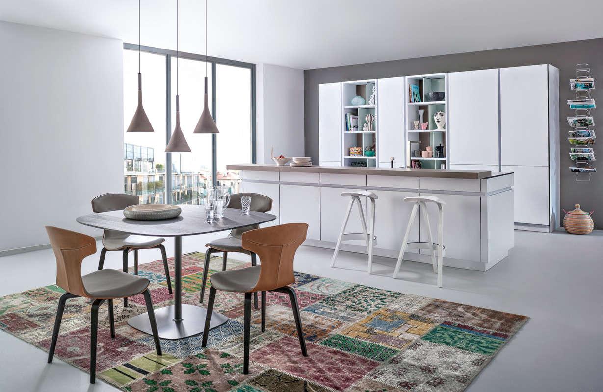 Moderne design keuken met open kastelementen