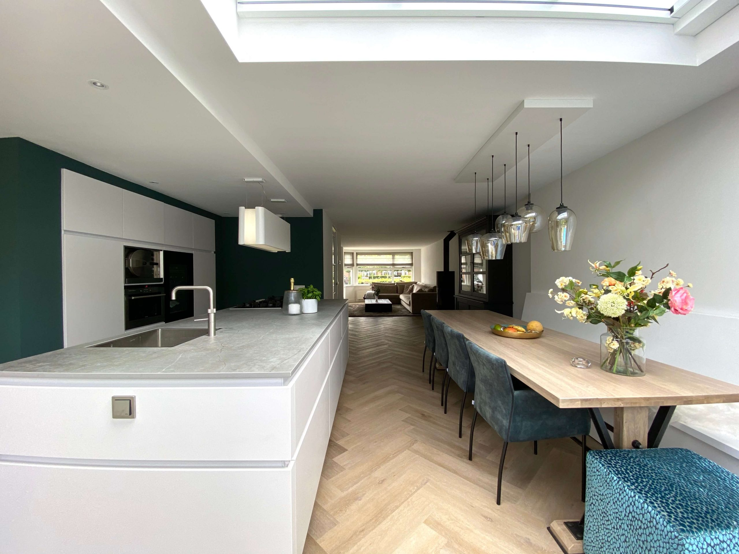 Wildhagen designkeuken in ruimte keukenuitbouw